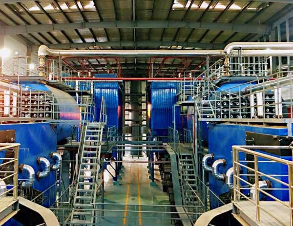 Inside the boiler house in Wuhan.