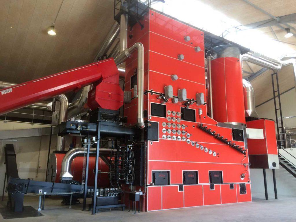 Complete boiler system in Grøngas Vrå.