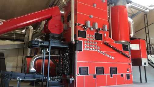 Boiler System at Grøngas in Denmark